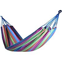 Popamazing Rose Garden Day Swing Bed Patio Canvas Hammock Hanging Camping Parachute Bed