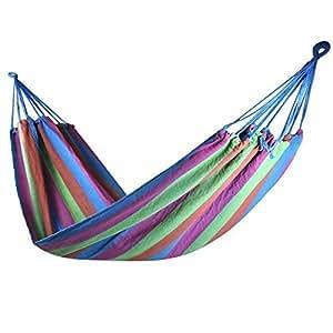 Popamazing Rose Garden Day Swing Bed Patio Leinwand Hängematte Camping Parachute Bett