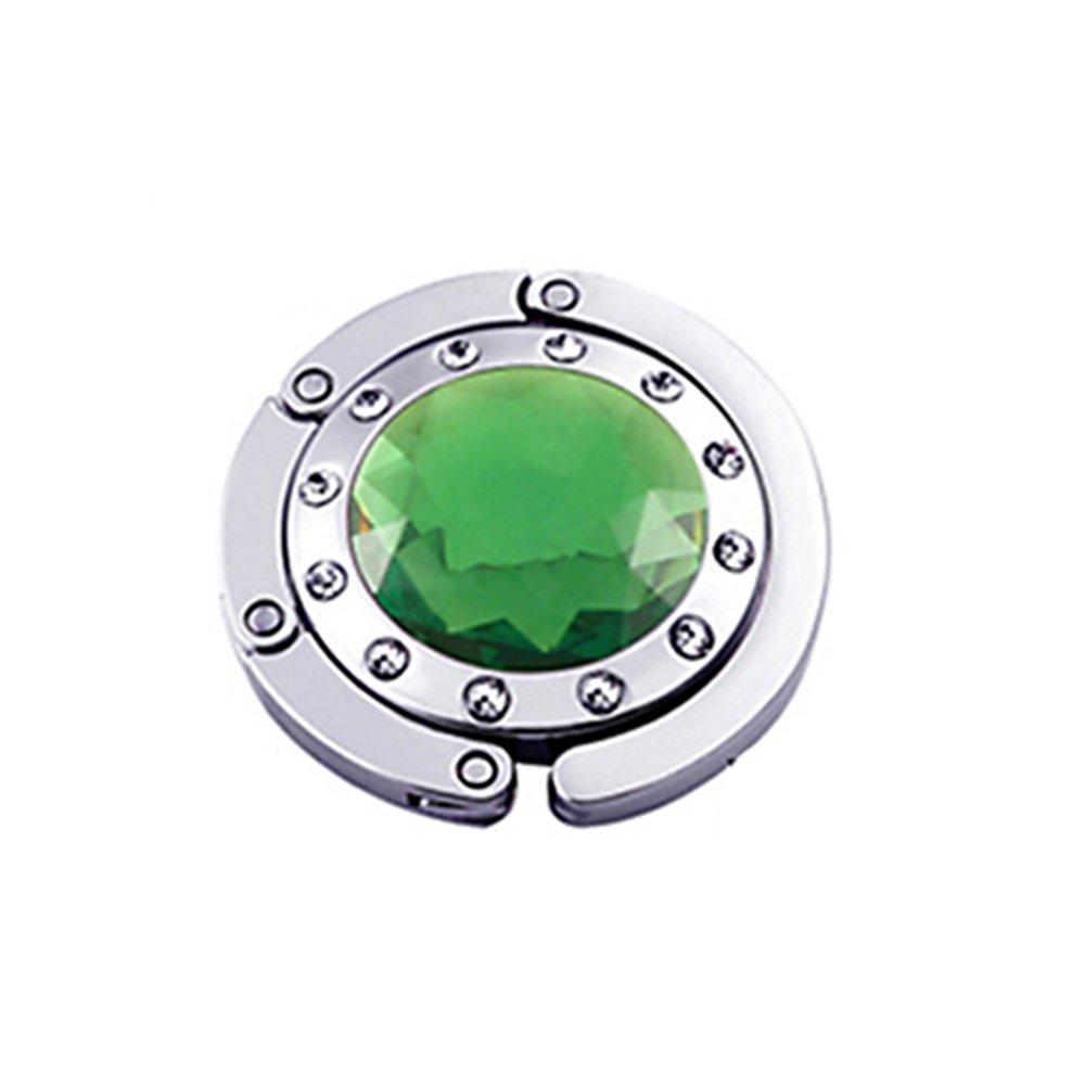 Gancio gancio Borsa Pieghevole Borsa A Mano Moda cristallo colori a scelta verde