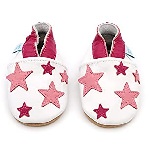 Dotty Fish Soft Leather Baby & Toddler Shoes – Boys & Girls – Stars