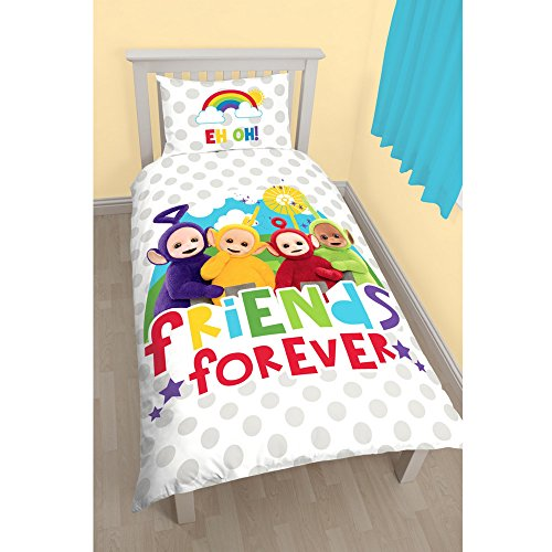 Teletubbies Childrens/Kids Official Playtime Reversible Single Duvet (Single Bed) (Multicoloured)