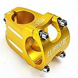 Encendido oro tallo 31,8mm de diámetro de aleación de ciclismo mtb bicicleta de montaña corto Downhill bicicleta Fr DH manillar tallos