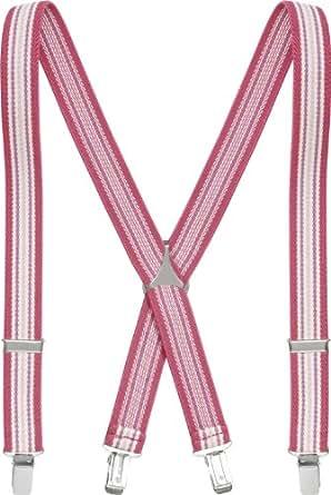 Playshoes Unisex - Kinder Hosenträger 603001 Modische gestreifte, Pink (pink/gestreift), 60