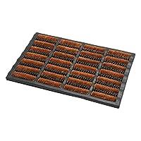 Addis Terrington Door Mat Heavy Duty Rubber Tuff 100% Natural Coir Bristle-60 x 40 cm, Coir & PVC, 60_x_40_cm