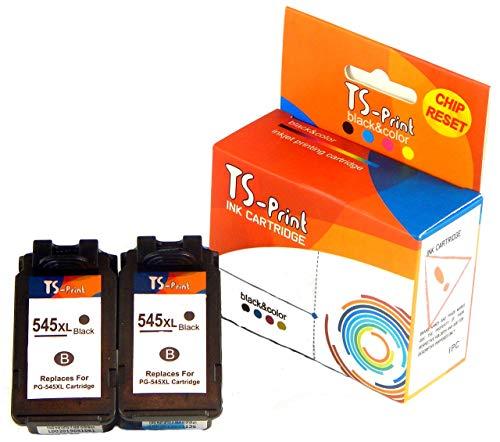 TS-Print Multi-pack Set di 2 cartucce d'inchiostro compatibili con Canon 2x PG-545 XL PG-545XL (ogni 21ml XXL) nero black bk