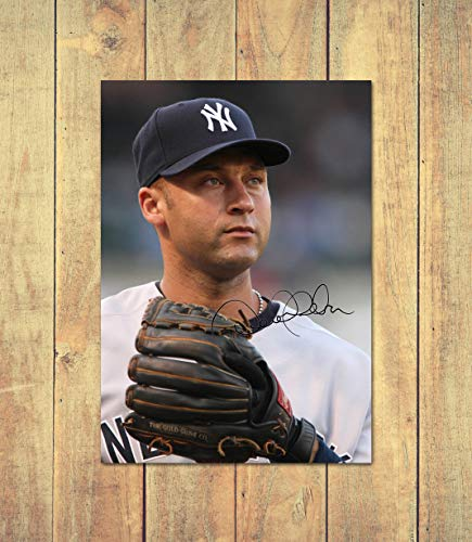 Star Prints Derek Jeter - New York Yankees - MLB 1 - High Gloss Personalised Printed Poster - A5 (148 x 210 mm) -