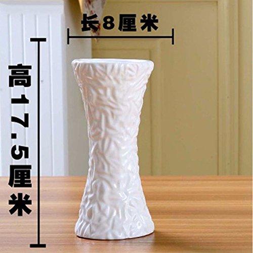 JRFBA Petit Vase Céramique Blanche Décoration Salon Télé Ameublement Décoration Créative En Cabinet (À L'Exclusion Des Ornements De 15 Cm Ovales, Fleurs),B