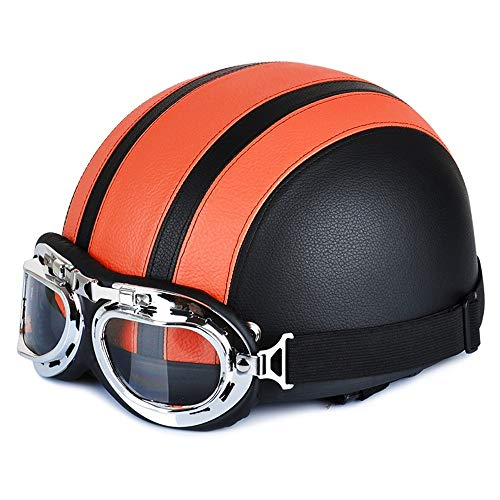 You will think of me Sie werden an mich denken. HelmMotorradhelm 54-60Cm mit Brille Sun Shield Necklet Retro Style Light und langlebig für Outdoor Cycling Protective Head, 8