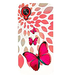 PRINTSWAG BUTTERFLY Designer Back Cover Case for LG GOOGLE NEXUS 5