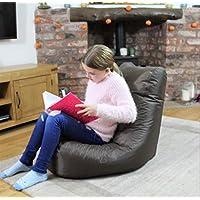 MaxiBean - Puf reclinable para Interior y Exterior, Color marrón