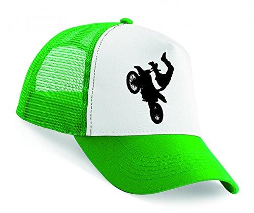 Snapback 'ATHLET- FAHRRAD- JUNGE- MÄNNLICH- MANN- MOTOCROSS- MOTORRAD- FAHRT- SILHOUETTE- SPORT- TRICK- TRANSPORT- FAHRZEUG' Unisex Baseballmütze Trucker Mützen Base Caps