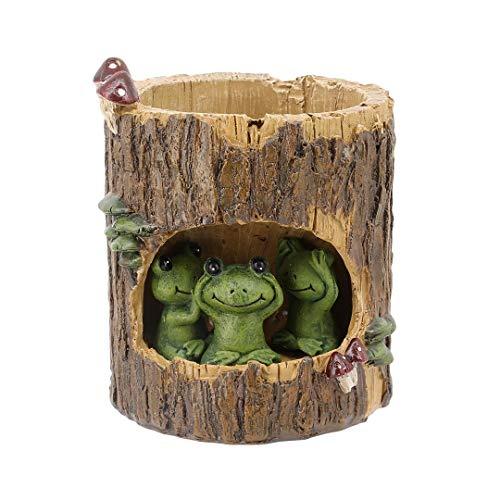 Green Frog Pot (Inveroo Creative Plants Pots Pinsel Pots Planter Für Blumen-siment-suchzenter Plants Desk Garden Room Pot Decor, Sweet Green Frog)