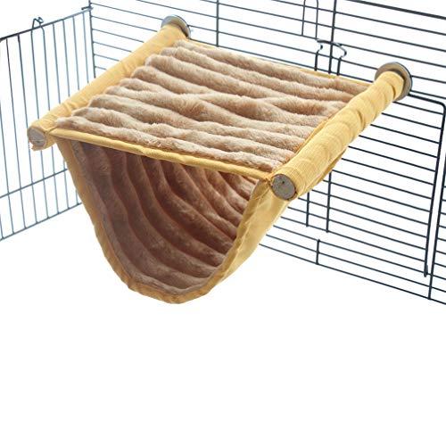 Emours - Hamaca de Cama Doble con Plataforma de Juego y Forro Polar cálido para Ratones de hámster