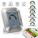 Thermometer, hunpta Luftfeuchtigkeit Innen Thermometer Monitor Touchscreen Hintergrundbeleuchtung Timer Digital Display