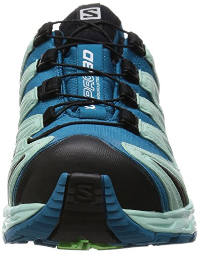 Salomon XA Pro 3D Gtx, Scarpe da Corsa Donna Blu (Fog Blue/Igloo Blue/Tonic Green)