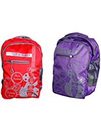 Rapidcostore Combo of 2 Bags School Collage Laptop Travel Bag With Rain  Cover For Kids Boys Girls Men Women… ffc16e358c534
