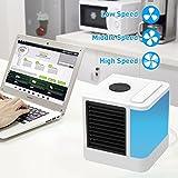Mobiles Klimageräte Air Cooler mit Wasserkühlung Zimmer Raumentfeuchter Mini Klimaanlage ohne Abluftschlauch für Büro, Hotel, Garage, 3 Kühlstufen - 7 Stimmungslichter (Drei Generationen von Luftkühlern