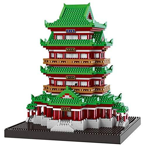 AIYA Berühmte chinesische Architektur Tengwang Pavillon 3D-Modell Diamond Mini DIY Micro Building Nano Blocks Spielzeug für Kinder für Jungen und Mädchen Birthday Geschenk