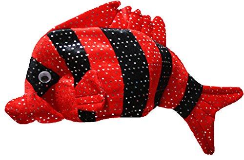Roter Fisch Kostüm - Petitebelle Bling Black Fish Hut Unisex