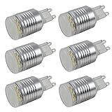 6X MENGS® G9 LED Lampe 2W AC 220-240V Kaltweiß 6000K 12x2835 SMD Mit Aluminium und PC Körper
