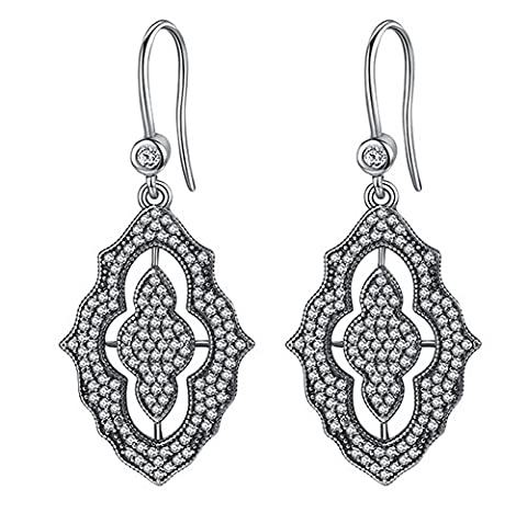 SaySure- 925 Sterling Silver Female Earrings with AAA Zircon