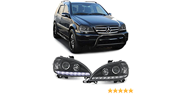 Carparts Online 22308 Klarglas Scheinwerfer Drl Tagfahrlicht Optik Schwarz Auto