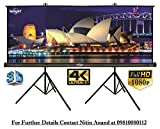 Inlight 8 Ft. x 6 Ft. Two Tripod Projector Screen, With Full HD
