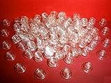 LEGO CITY - 100 transparente flache runde 1er Noppen
