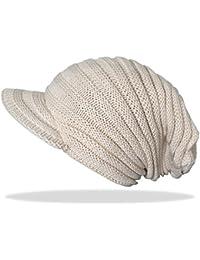 Damen Schirmmütze Mütze Strickmütze Beanie Unisex Mütze - A037