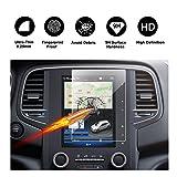 RUIYA Protecteur d'écran en verre trempé pour système de navigation (2017-2018) Renault Koleos II/(2016-2017) Renault Mégane IV R-Link 2,Cristal clair HD,anti-rayures [8,7 pouces]