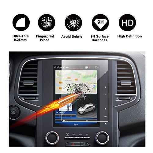 RUIYA Gehärtetes Glas Ultra-klar Displayschutz für das Navigationssystem von 2017-2018 Renault Koleos II/(2016-2017) Renault Mégane IV, Anti-Kratzer - 8,7 Zoll