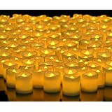 Alria Led Candles Flameless Smoke Free Yellow Tea Light,Set Of 12 Pcs (Battery Included)