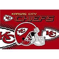 Vintage Hat Company Kansas City Chiefs - Bandera de fútbol Americano, 3 pies por 5 pies