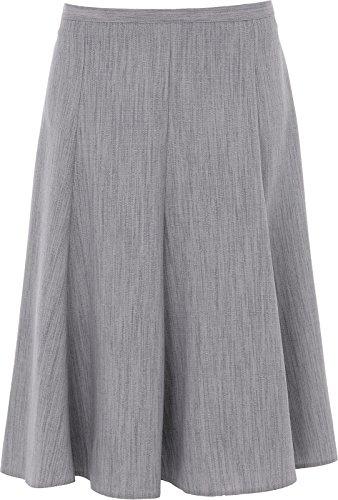 Sonia Fashions Women's Skirt 26 inches Length Plain Just Below Knee Half Elasticated Waist