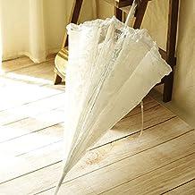 Kicode Paraguas de encaje boda parasol bordado traje de boda accesorio