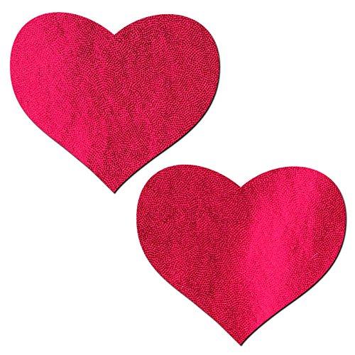 Pastease Femmes Coeur Rouge Liquide Pétales Pour Mamelons