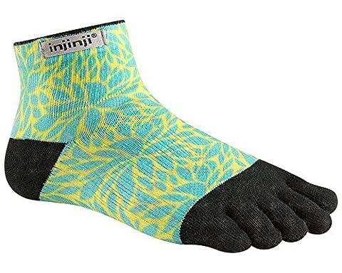 Injinji Socks Run Lightweight Mini Crew Running Socks Fern Womens M/L