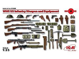 ICM 035688-1/35WWI US Infantería Armas Y Accesorios plástico Maqueta de