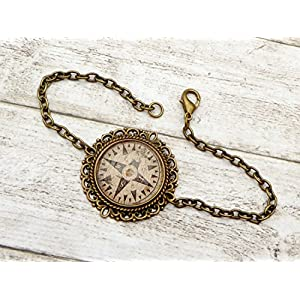 Kompass Armband, Seefahrt, Navigation, antik Armband
