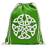 KIWISTAR - Celtic PentagramPentacle Druids Turnbeutel Fun Rucksack Sport Beutel Gymsack Baumwolle mit Ziehgurt