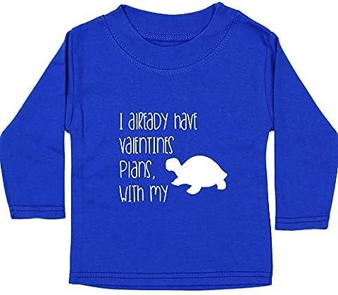 Hippowarehouse I Already Have Valentines Plans, With My Tortoise baby unisex t-shirt long sleeve