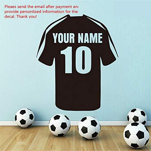Personalisierte Home Jersey (wandaufkleber schlafzimmer Personalisierter Name Jersey für Jungen Zimmer Home Decor für Wohnzimmer dekorieren)