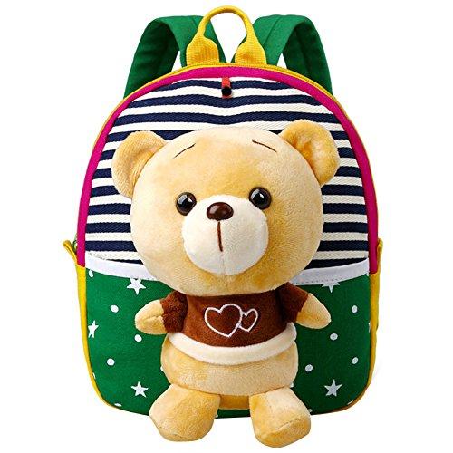 saideng-zaino-bello-giocattoli-rimovibili-a-spalla-tempo-libero-animali-colori-vivaci-verde-orso