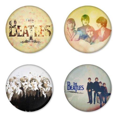 THE BEATLES Tondo Round Badges Button 1.75