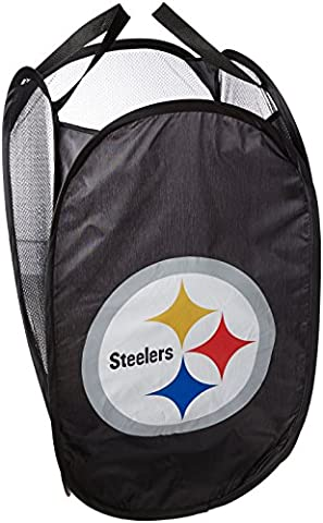 Forever Collectibles Team Logo Laundry Hamper, Pittsburgh Steelers, One Size