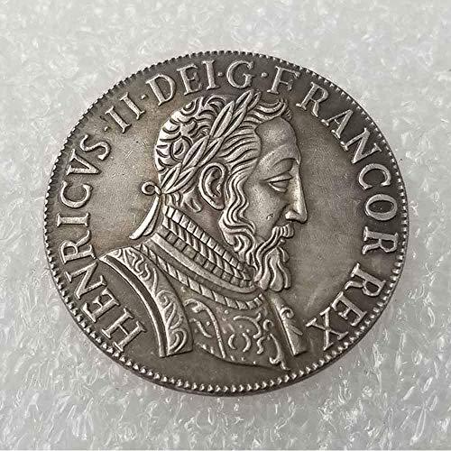 DDTing Best Silver Coins - Tyson Henry II Gedenkmünze - 1554 Frankreich-Münze, Silber-Dollar, Old Morgan Dollar, versilbert -