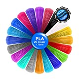 PLA Filament 20 Colors, 5M/16Ft Each Color,Total 328 feet,3D Pen Printer PLA Printing Material Refills 1.75mm,Dimensional Accuracy ±0.02,Fit for all the market's 3d pens and printer.