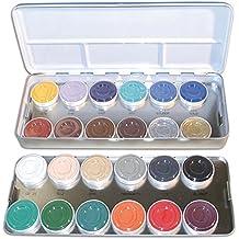 KRYOLAN maquillaje Aquacolor PALETA DE COLORES de metal 24