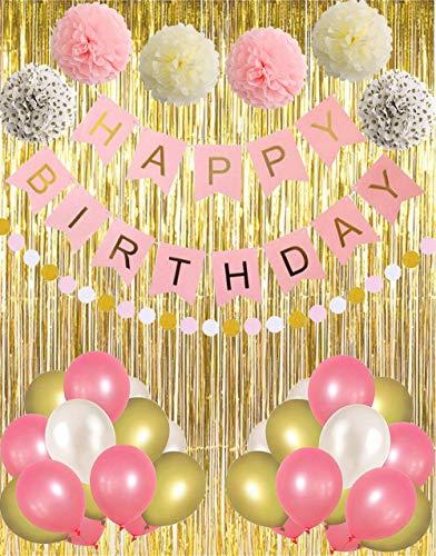 Pancarta cumpleaños fiesta cumpleaños cortinas doradas