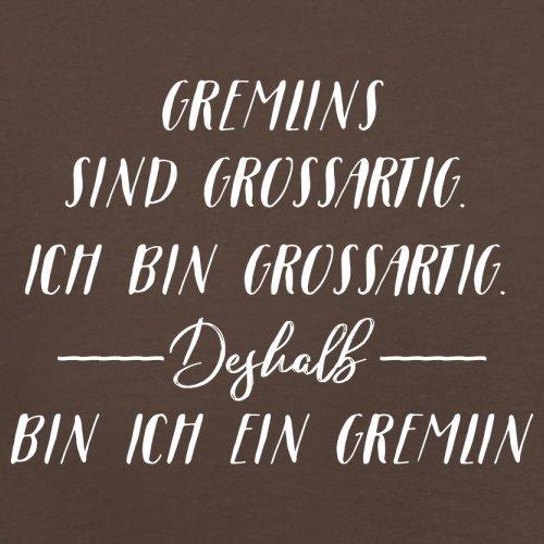 Ich Bin Grossartig - Gremlin - Herren T-Shirt - 13 Farben Schokobraun